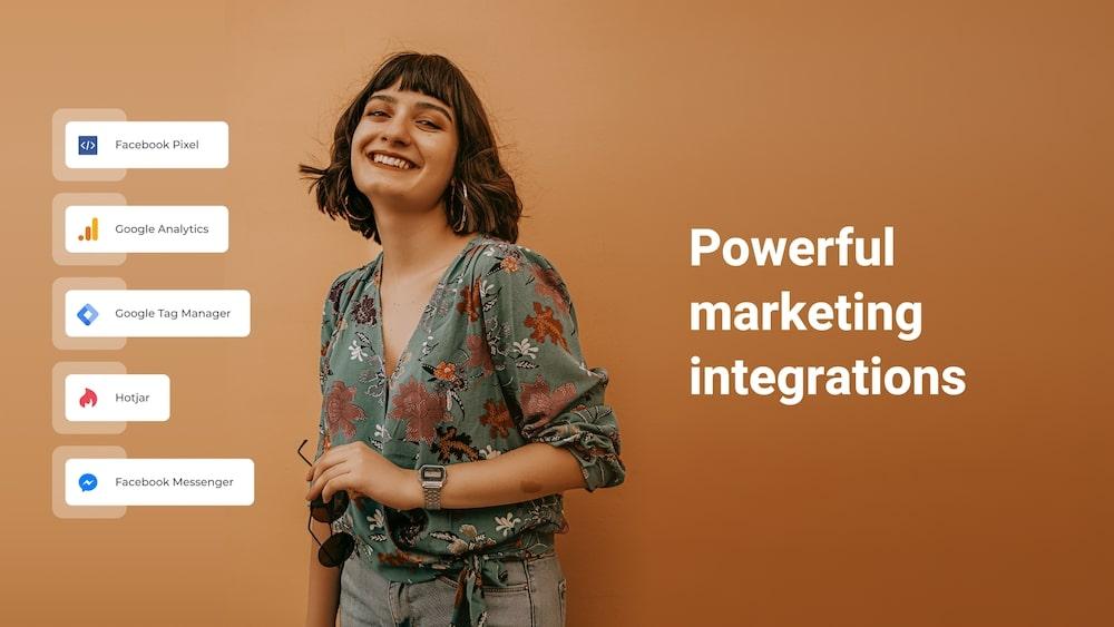 zyro ads pixel Powerful marketing integrations